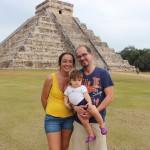 Con una bambina in Messico