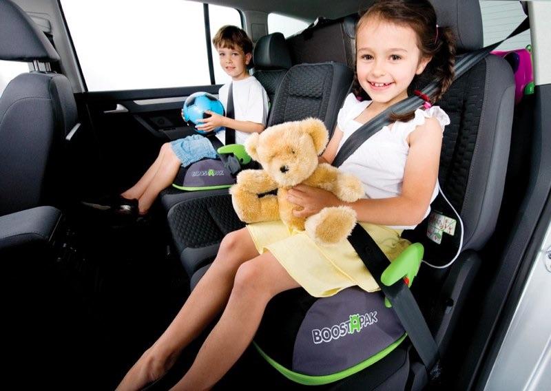 in auto con bambini