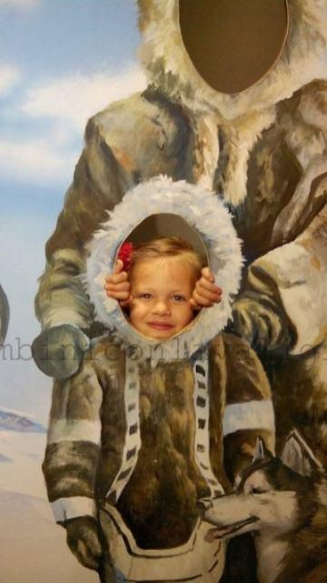 Bimba al Museo Kon Tiki Norvegia