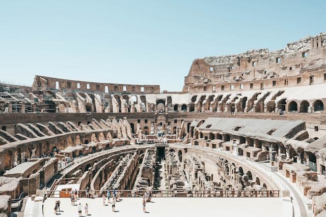 Colosseo Roma con bambini