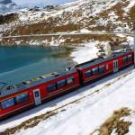 Il Trenino Rosso del Bernina con bambini