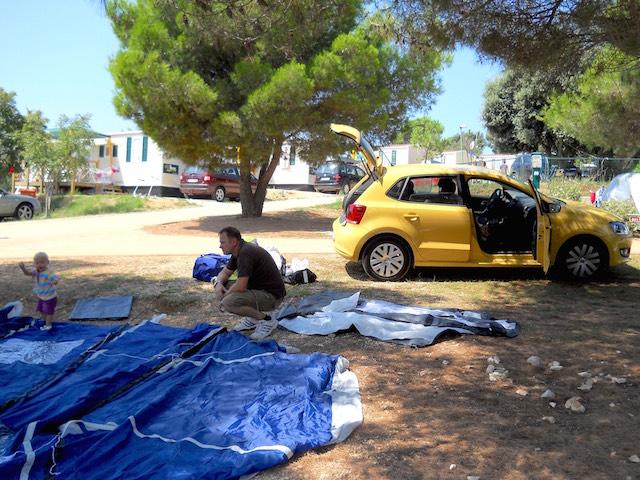 il camping con la tenda