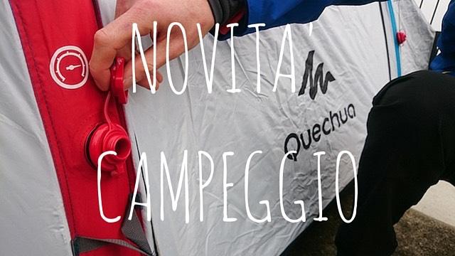 novità campeggio tenda