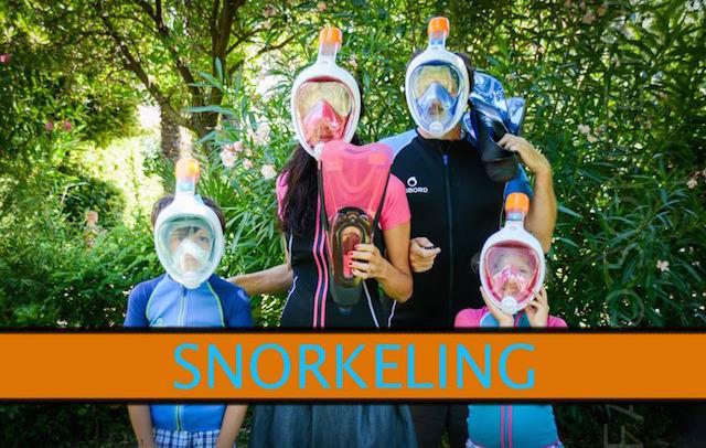 snorkeling family