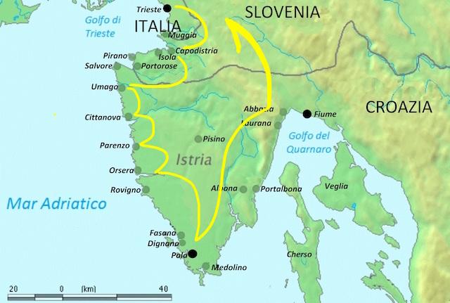 itinerario Istria