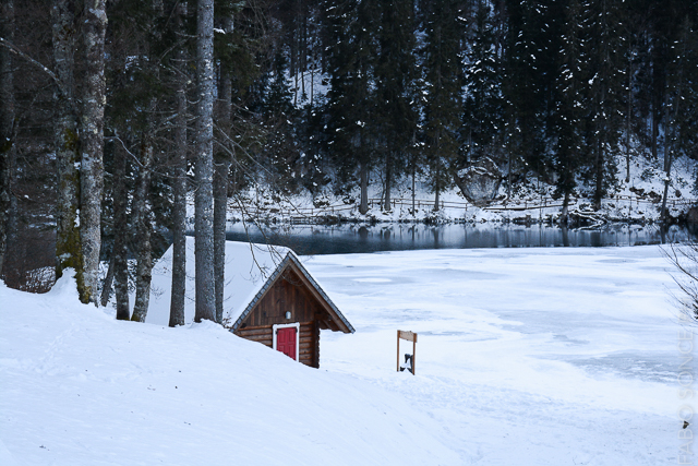 laghi fusine inverno