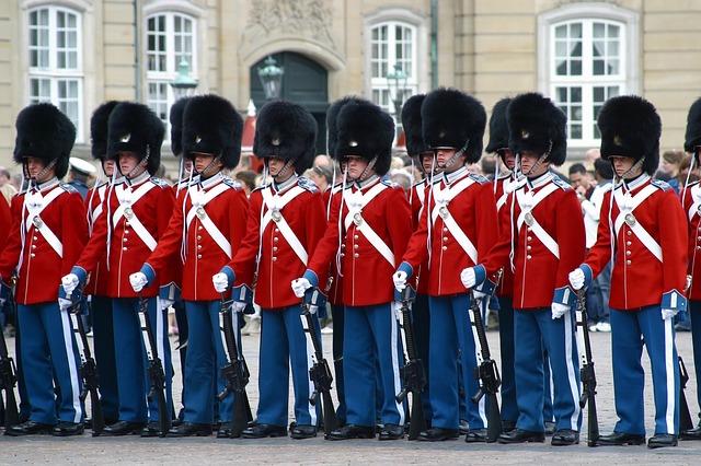 guardia reale a Copenhagen in Danimarca
