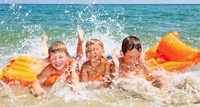 al mare con i bambini