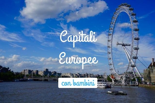 10 capitali europee con bambini