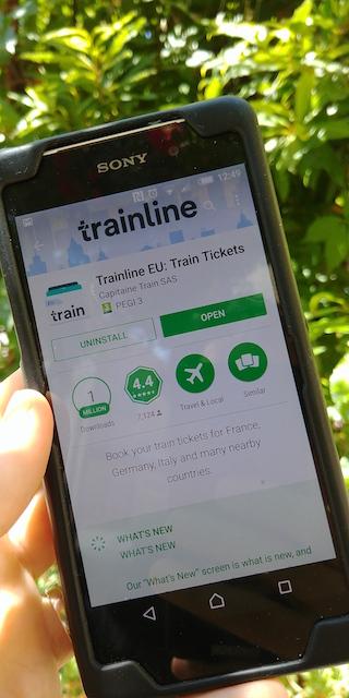 viaggiare in treno app