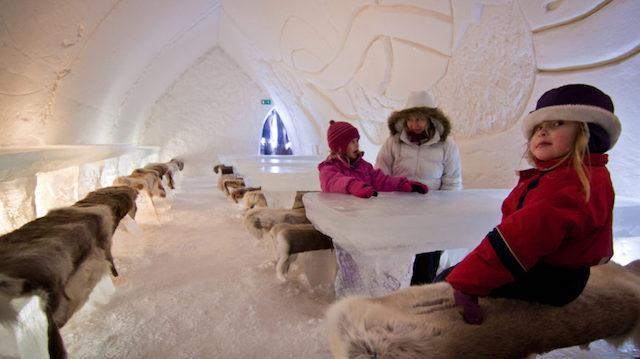 ristorante ghiaccio Lapponia
