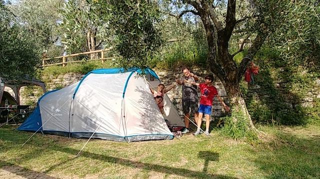 campeggio tenda