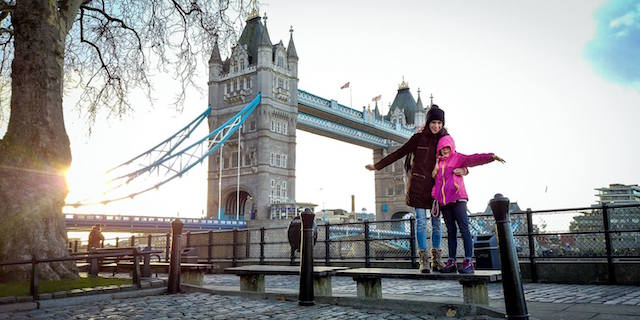 londra a natale tower bridge