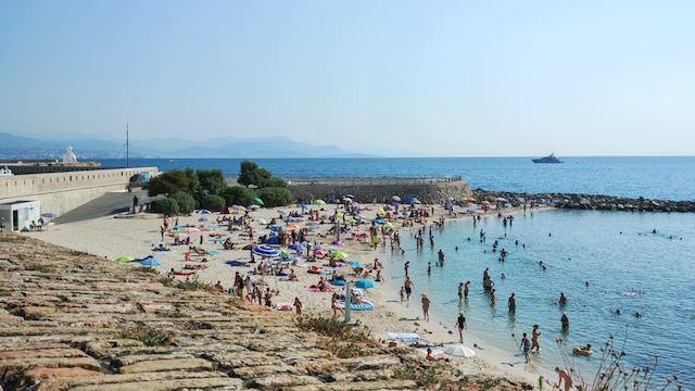 spiaggia di sabbia Antibes