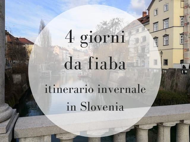 itinerario invernale in Slovenia