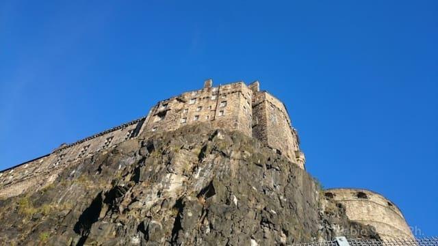 castello edimburgo da sotto