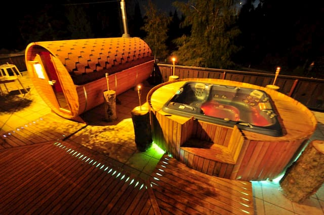 jacuzzi e sauna botte