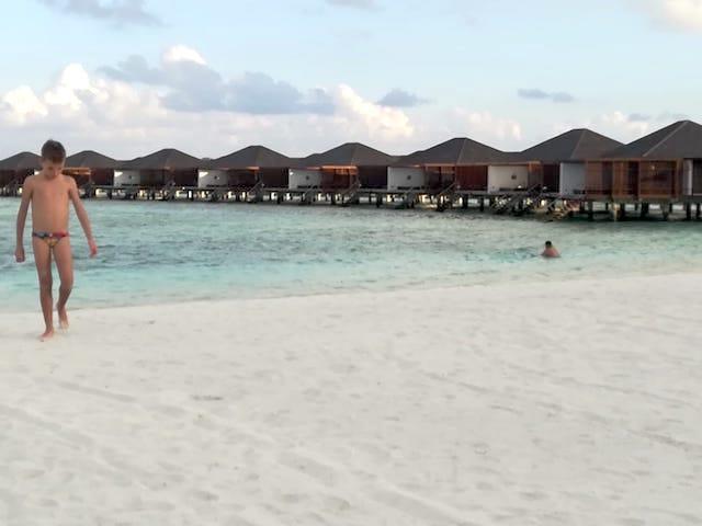 spiaggia bianca Maldive
