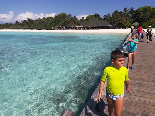 mare Maldive con bimbi