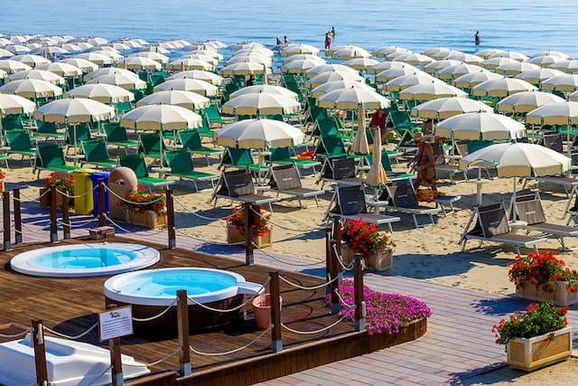 spiaggia hotel Milano Marittima