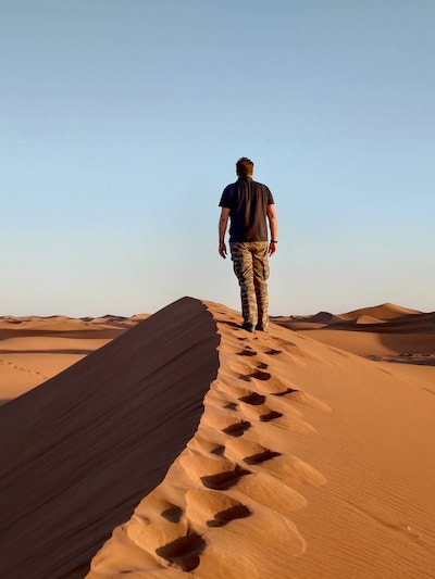 passeggiata dune sabbia Sahara