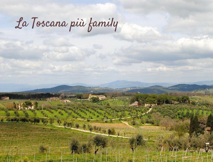 colline Toscana con bambini
