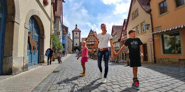 porta città Rothenburg Strada Romantica