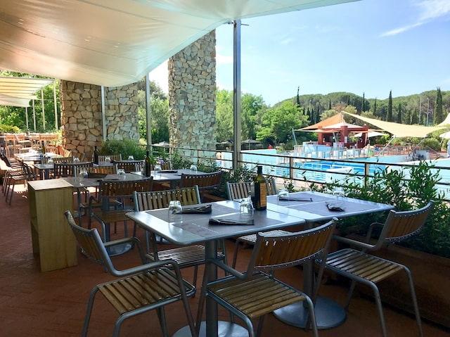 terrazza ristorante villaggio Maremma