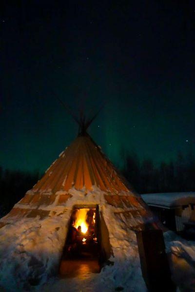 aurora campo base Finlandia