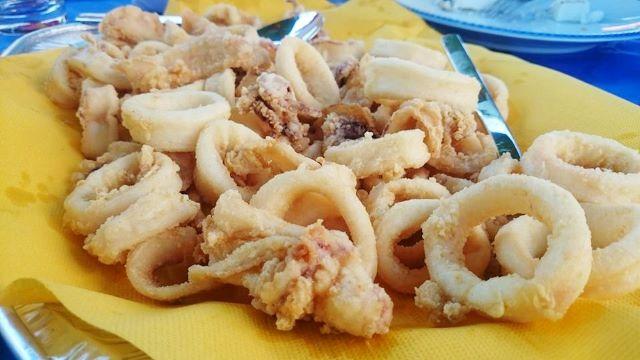 calamari fritti in laguna veneziana