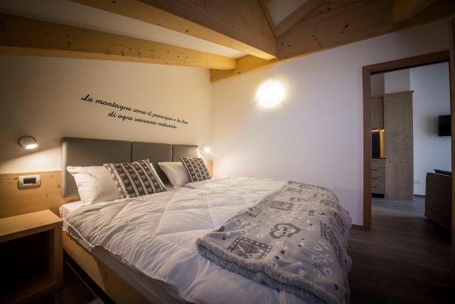 camera appartamento sottotetto Val di Sole