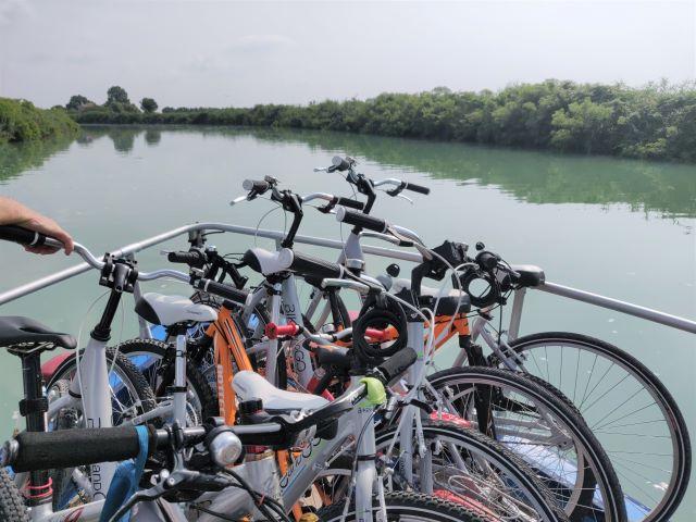 bici barca laguna veneta