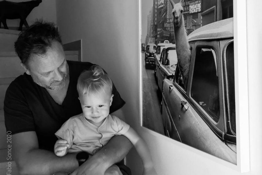 poster con cornice papà bambino