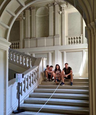 famiglia al Museo Nazionale Rossini di Pesaro