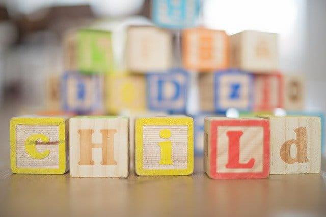 cubi di legno per bimbi
