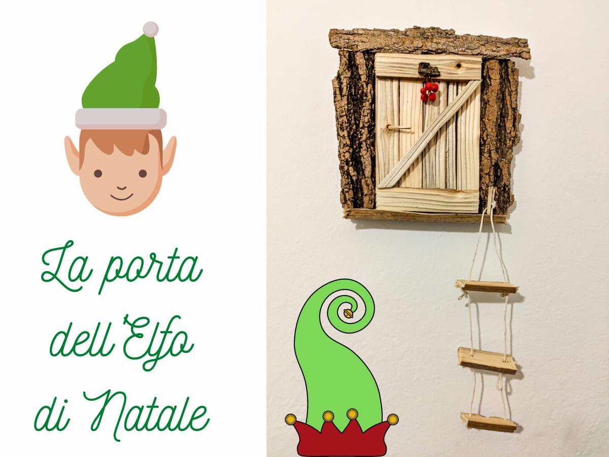 la porte dell'elfo di natale