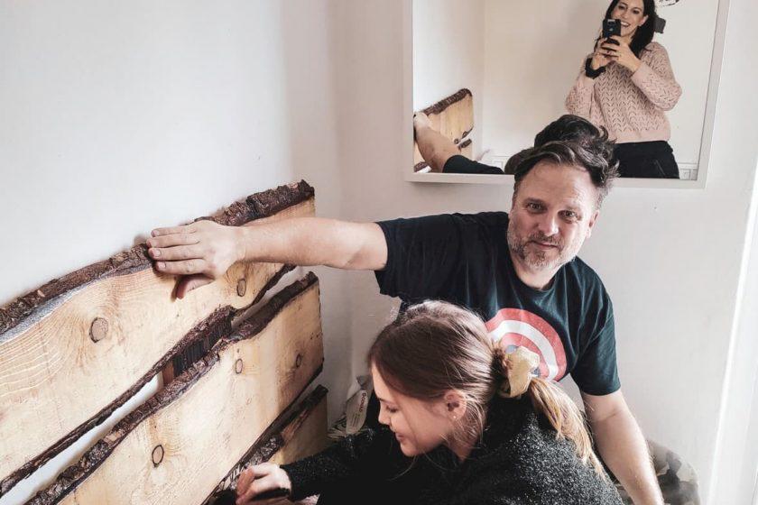 testiera del letto in legno