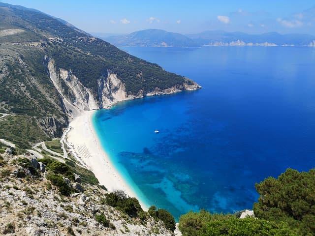 spiagge grecia famiglie myrtos