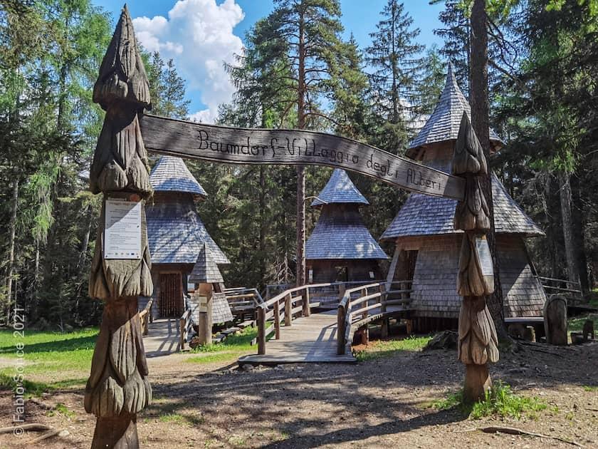 mondo magico della foresta dobbiaco