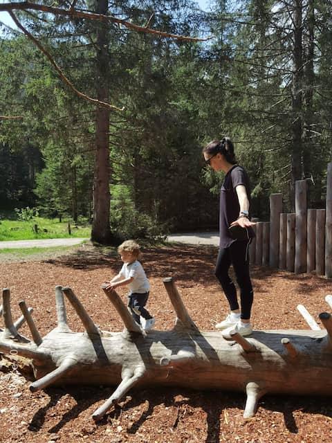 tronchi parco giochi in legno